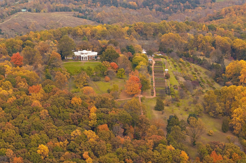 Monticello Fall Aerial Photograph